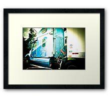 Big Blue Truck and no Cherry Tree Framed Print