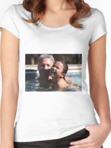 Husband and Daughter having fun Women's Fitted Scoop T-Shirt