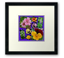June Garden Flowers Collage Framed Print