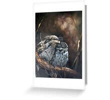 """""""Tawny Evening - Tawny Frogmouths"""" Greeting Card"""