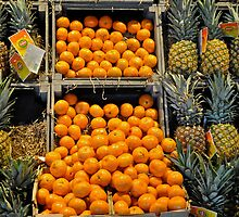 pineapples and oranges by richard  webb