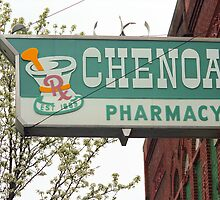 Route 66 - Chenoa Pharmacy by Frank Romeo