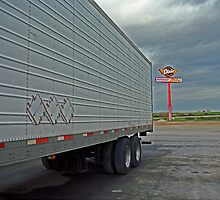 Route 66 - Dixie Truck Stop by Frank Romeo