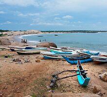 Fishing Boats - Sri Lanka by Dilshara Hill