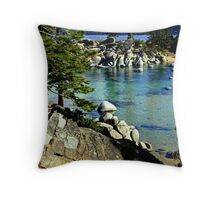"""Sand Harbor Morning"" Throw Pillow"