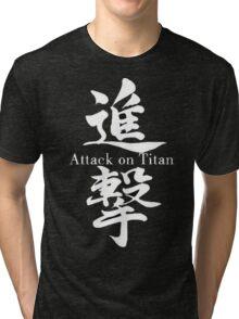 Attack on Titan Shingeki No Kyojin Scouting Legion Recon Corps Logo Patches Cosplay Anime T Shirt Tri-blend T-Shirt