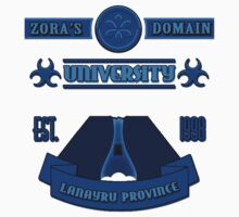 Legend of Zelda - Zora's Domain University  by B-Shirts
