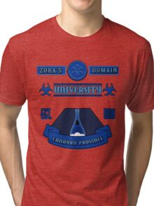 Legend of Zelda - Zora's Domain University  Tri-blend T-Shirt