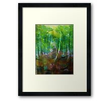 Forest of Trees,, watercolor Framed Print