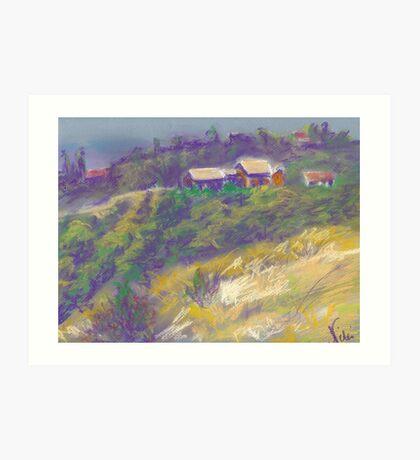 Neighbors (pastel) Art Print