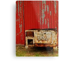 R is for Red & Rusty Metal Print