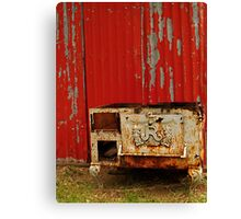 R is for Red & Rusty Canvas Print