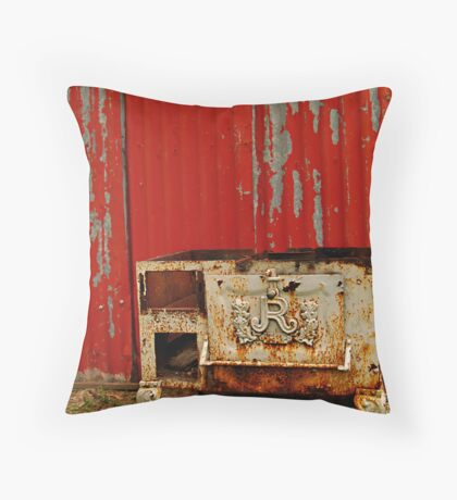 R is for Red & Rusty Throw Pillow
