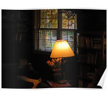 """Lamp in My Library Window"" Poster"