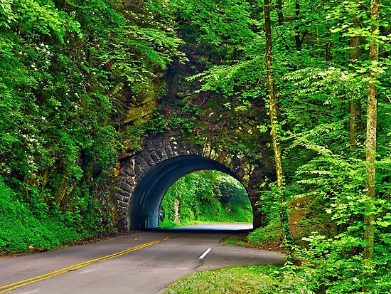 Tunnel to Cades Cove by glennc70000