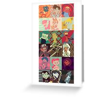 18 Cartoon Protagonists Greeting Card