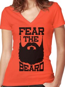 Fear The Beard Shirt by Fear The Beard Women's Fitted V-Neck T-Shirt