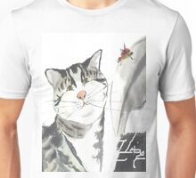 cat and red insect Unisex T-Shirt