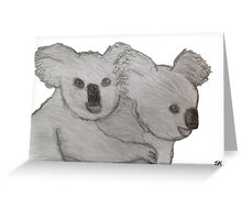 Koala & Joey Greeting Card