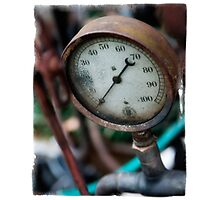 Old steam pressure gauge Photographic Print
