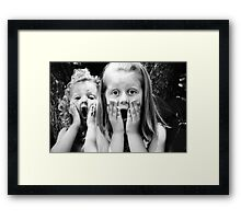 Silly Faces Framed Print
