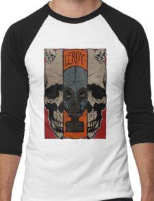 Split Skull Men's Baseball ¾ T-Shirt