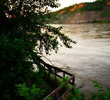 Swollen - North Saskatchewan River by Roxanne Persson