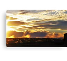 Sprinklers by Sunset Canvas Print