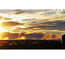 Sprinklers by Sunset Photographic Print