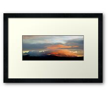 Sunset over the Galtees Framed Print
