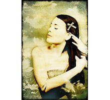 Girl With Ribbon Photographic Print