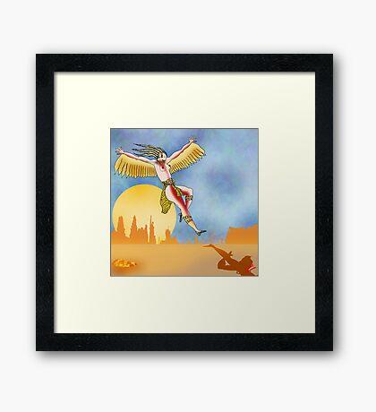 Angel of the Plains Landing. Framed Print