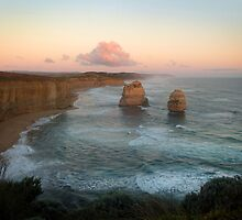 Twelve Apostles at dusk, Port Campbell National Park by ShineArt