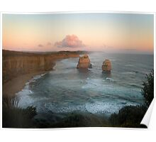 Twelve Apostles at dusk, Port Campbell National Park Poster