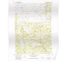 USGS Topo Map Oregon Williams Prairie 282104 1965 24000 Poster