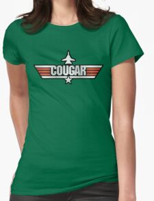 Top Gun Cougar (with Tomcat) Womens Fitted T-Shirt