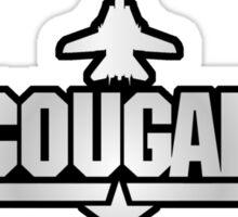Top Gun Cougar (with Tomcat) Sticker