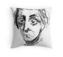 A rather rude awakening.. Throw Pillow