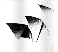 Sydney Opera House - Black and White Poster