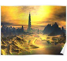 Odin's Hall - Valhalla - Planet Asgard Poster