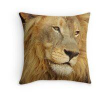 Lion at Sunset Throw Pillow