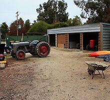 Maintenance Yard, Barham Lakes Caravan Park, NSW by brendanscully