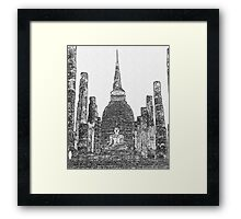 Ruins of a Temple Framed Print