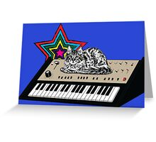 Synth Cat Greeting Card