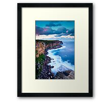 Cliffs at North Head Framed Print