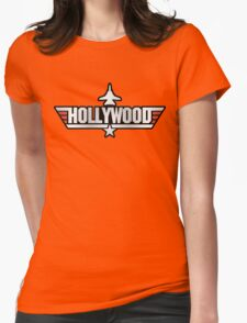 Top Gun Hollywood (with Tomcat) Womens Fitted T-Shirt