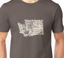 Washington Vintage Picture Map Unisex T-Shirt