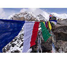 Prayer Flags @ Gokyo Ri Photographic Print