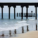 Lowerstoft Pier in the surf by MichelleRees