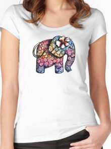 Tattoo Elephant Women's Fitted Scoop T-Shirt